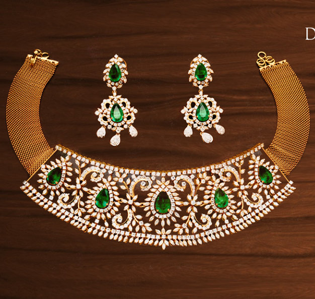 Indian Diamond Chokers by Tibarumal