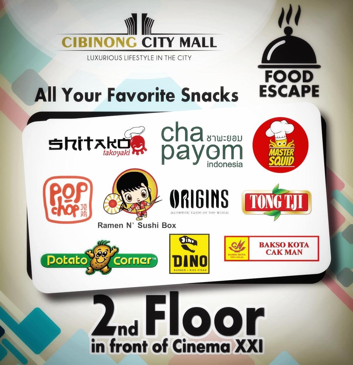 Menikmati Snack Favorit Di Food Escape Cibinong City Mall