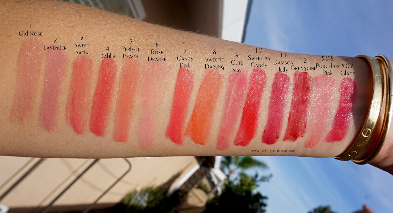 cle de peau refined lip luminizer swatches