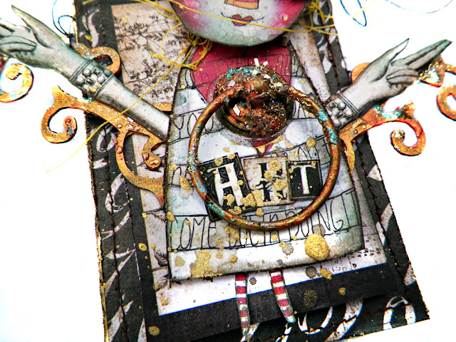 Art Doll ATC by Lisa Novogrodski using The Archivist for the Frank Garcia Design Team