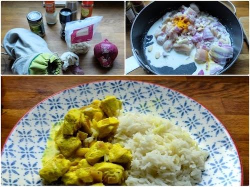 sunday morning d jeuner indien naans au fromage et poulet korma. Black Bedroom Furniture Sets. Home Design Ideas