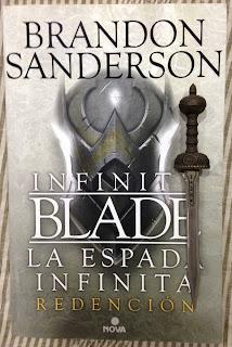 Portada del libro La espada infinita. Redención, de Brandon Sanderson
