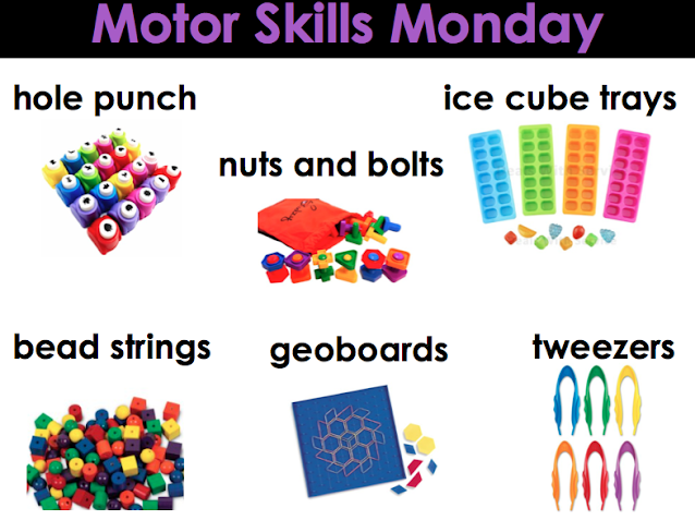 Motor Skills Monday Math Activities