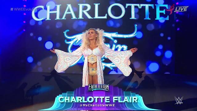 WWE Evolution : Becky Lynch Def Charlotte Flair