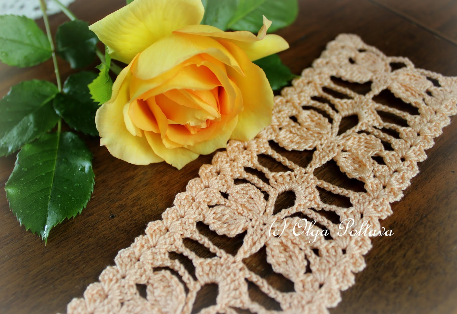 Lacy Crochet: Butterflies Crochet Bookmark or Lace Edging