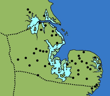 Map Of England Provinces.Caitlin Green Anglo Saxon Archaeology Late Roman Provinces The