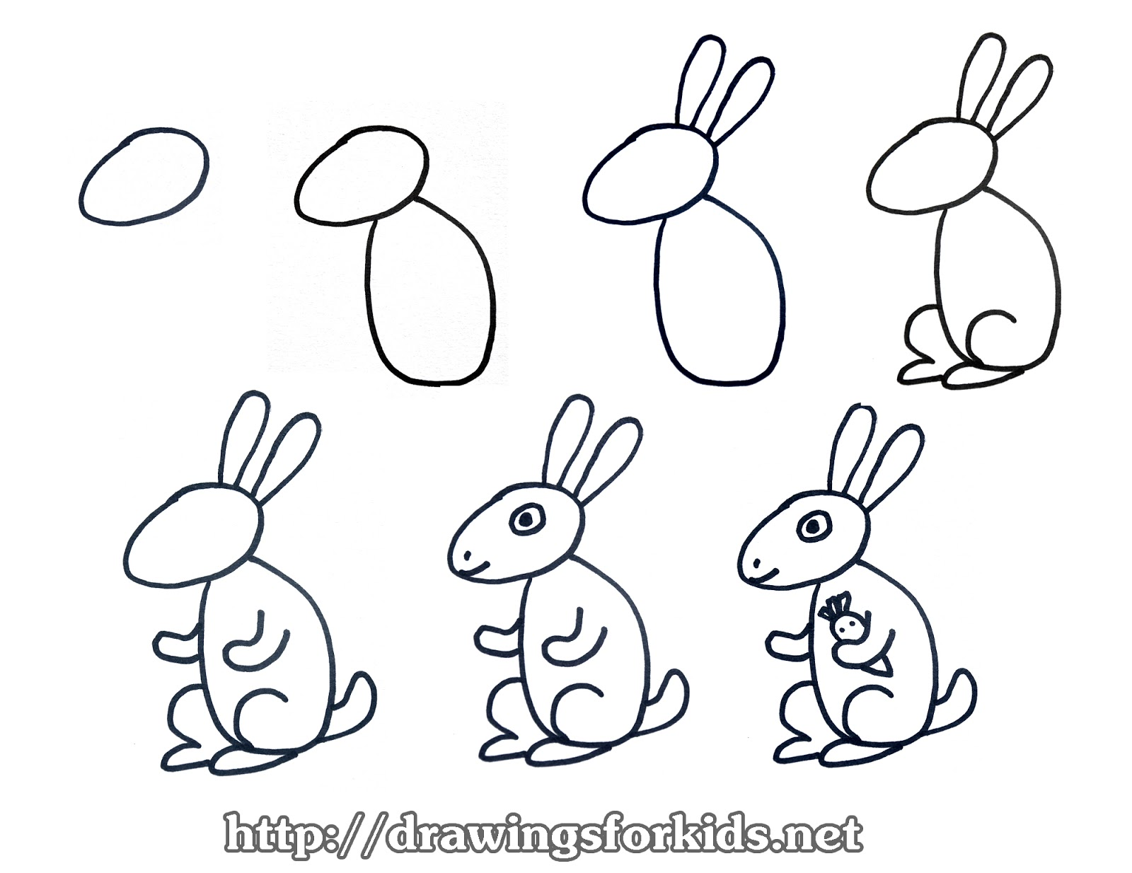 Uncategorized How To Draw A Rabbit For Kids how to draw a rabbit for kids drawingsforkids net video tutorials minh
