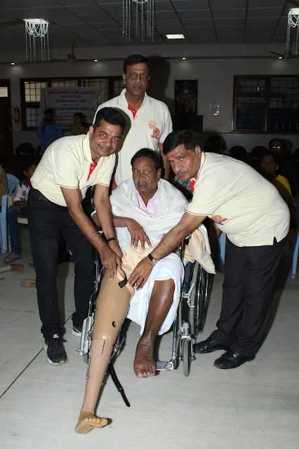 "Free distribution of ""Jaipur Foot""for a  humanitarian cause."