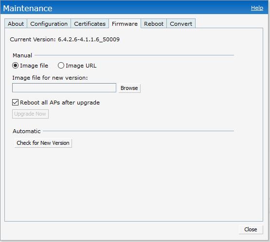 how to check aruba ap firmware version