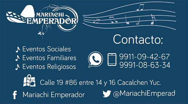Contactos y Contrata Mariachi en Yucatan