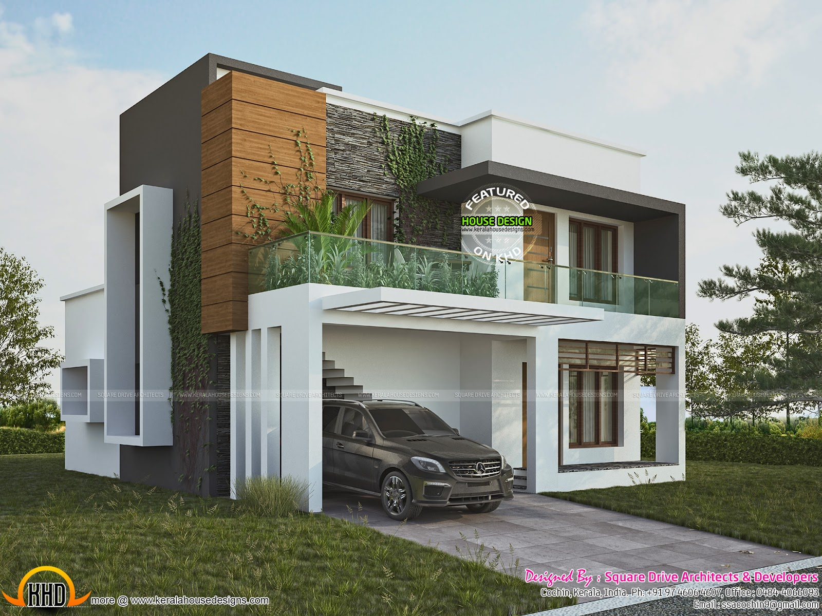 Unique green home designs floor plans house floor ideas for Contemporary house in kerala