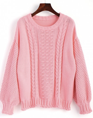 cable-knit-lantern-sleeve-sweater