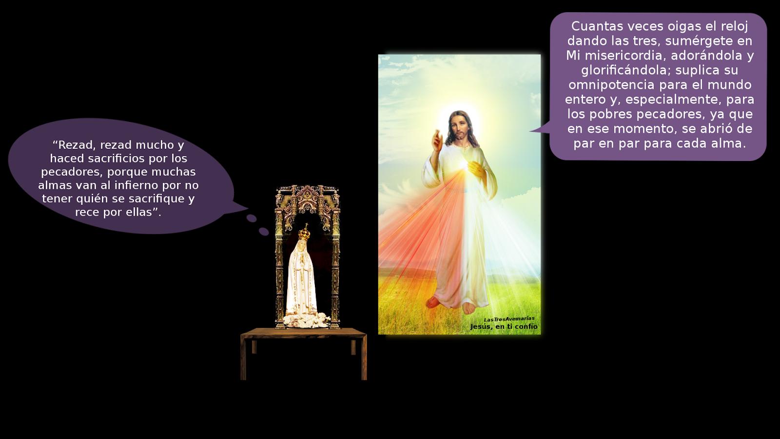 foto con jesus misericordioso y su amadisima madre