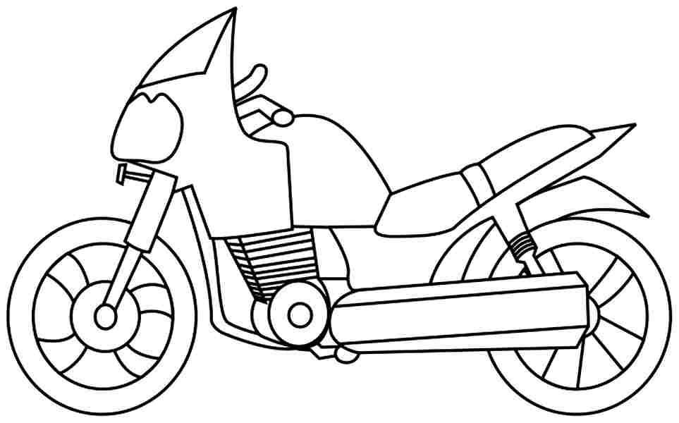 Los dibujos para colorear : Dibujos de motocicletas para ...