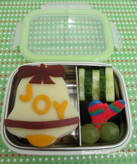 Joy, bell, Christmas, Bento School Lunches