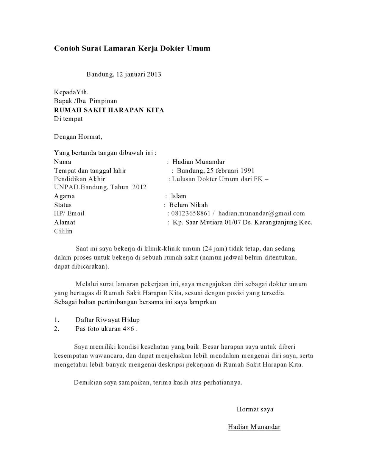 76 Contoh Surat Lamaran Kerja Di Pt Asdp