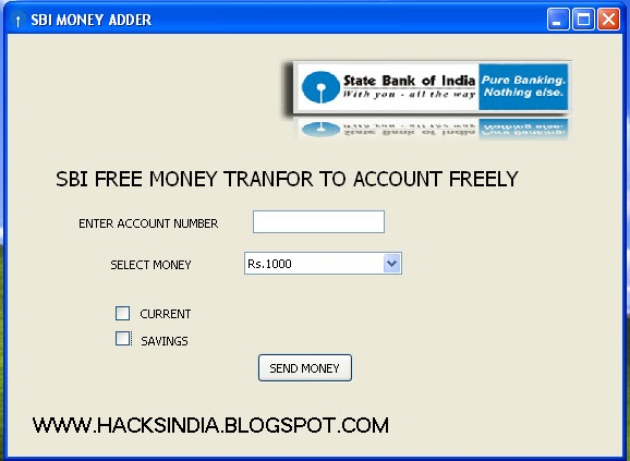 Sbi Money Adder Send To Your Bank Account Free