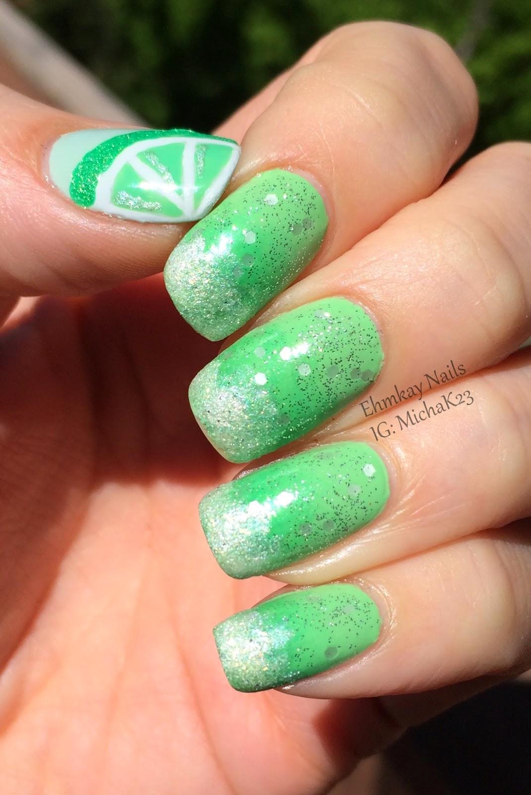 Ehmkay Nails Cinco De Mayo Nails Margarita Nail Art