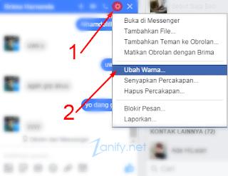 Cara Mengubah Warna Chat Messenger Facebook