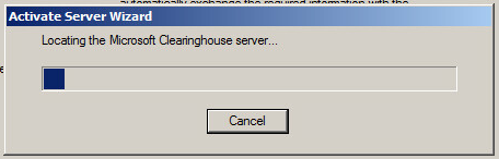 Microsoft Clearinghouse Server.