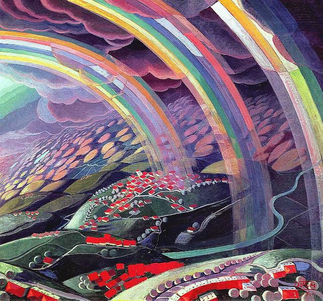 Gerardo Dottori rainbows painting