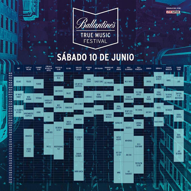 Horarios True Music 2017
