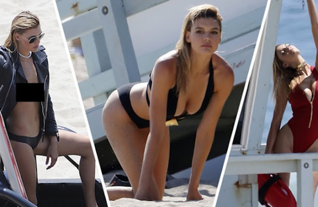 Hot girls Kelly Rohrbach sexy Bikini at Baywatch 5