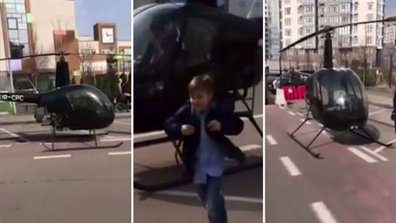 Video: Takut Anaknya Terlambat, Pria Ini Antar Anaknya Sekolah Dengan Helikopter