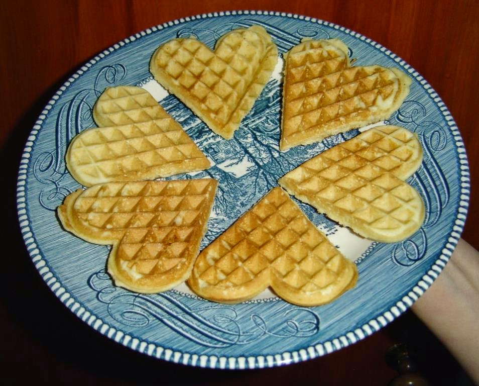 My Homemade Orange-Heart Shaped Waffles