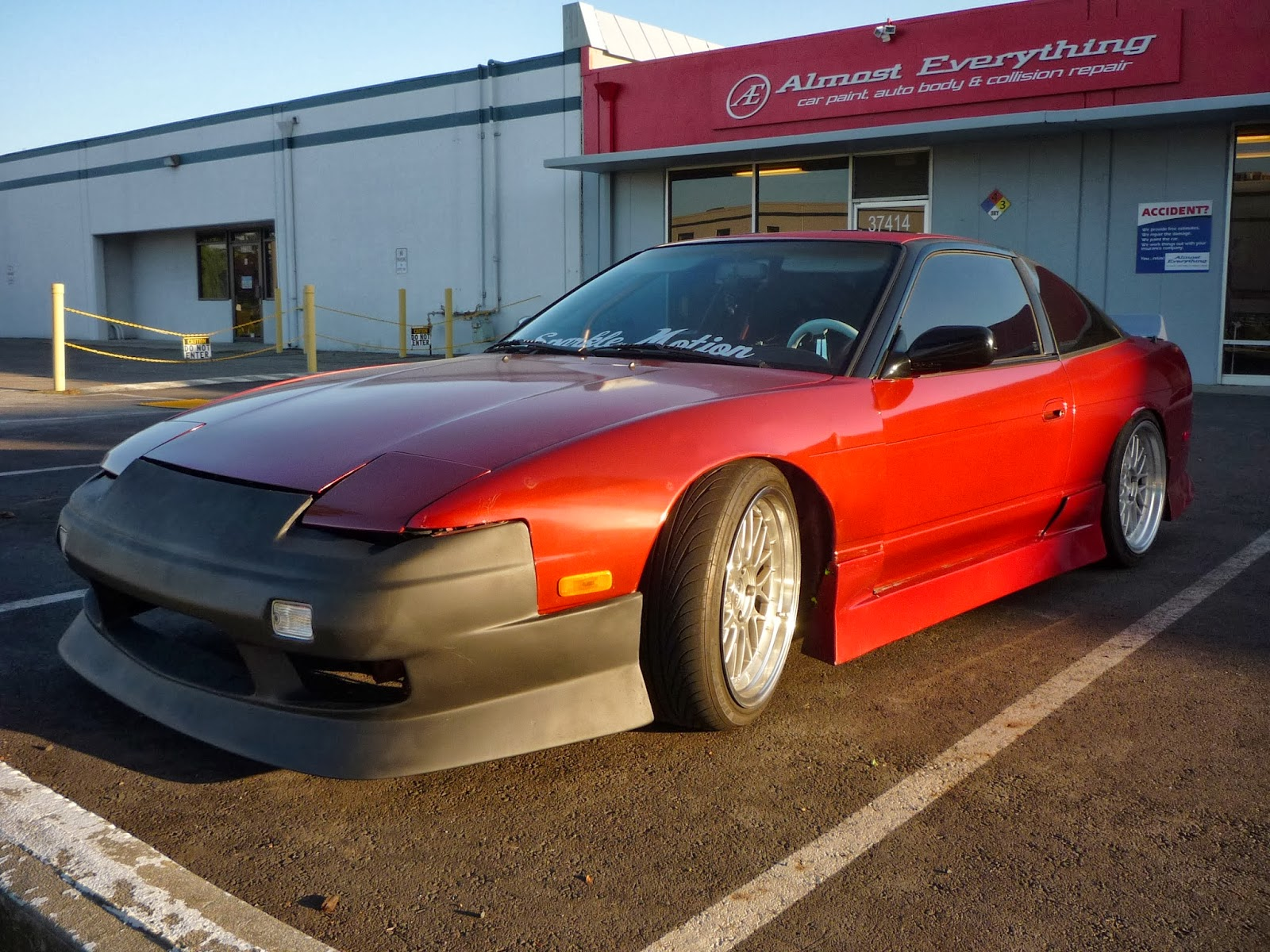 medium resolution of 1991 nissan 240sx with paint from almost everything auto body
