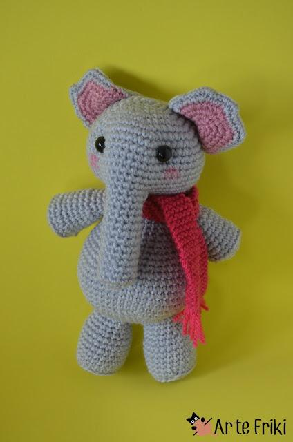elefante amigurumi crochet ganchillo kawaii muñeco diy