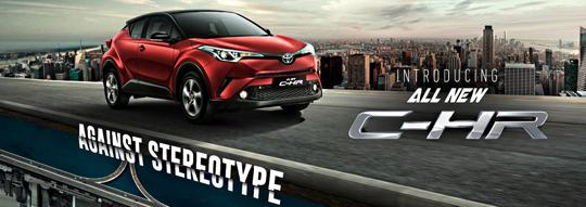 Harga Toyota All New C-HR di Jakarta, Tangerang, Serang, Depok, Bekasi, Bogor 2018