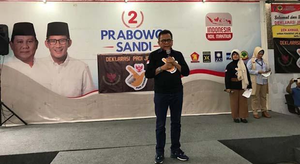 PADI Jaya Baya deklarasi dukung Prabowo-Sandi, waspadai kecurangan