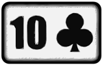 ten of clubs playing card