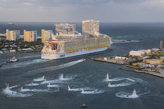 Royal Caribbean's Harmony of the Seas departs Ft.Lauderdale, Florida