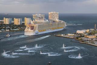 Royal Caribbean's Harmony of the Seas departs Ft.Lauderdale, Florida