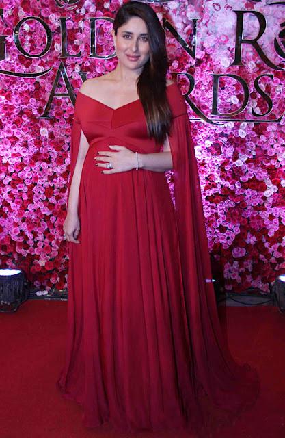 Kareena Kapoor in Gauri & Nainika Gown at the Lux Golden Rose Awards 2016