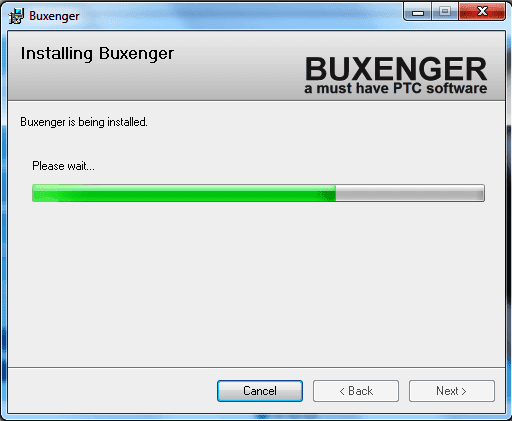 Buxenger installation process