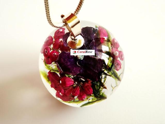 biżuteria botaniczna z żywicy