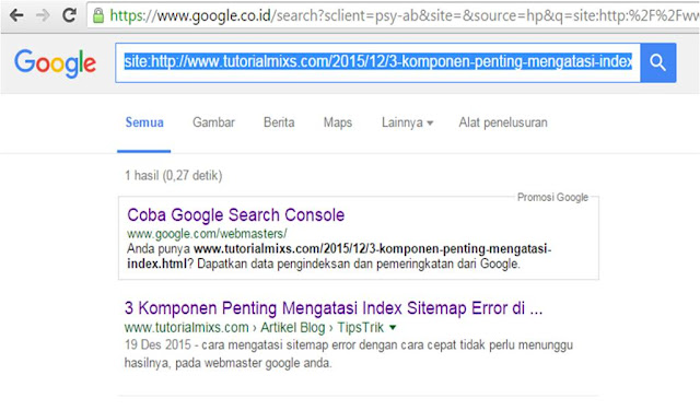 cara cek url ke search engine