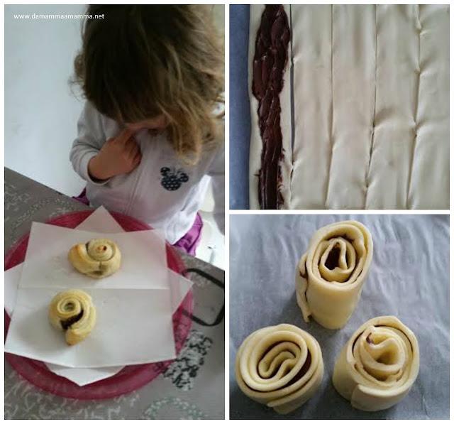 Ricetta: girelle di pasta sfoglia alla Nutella