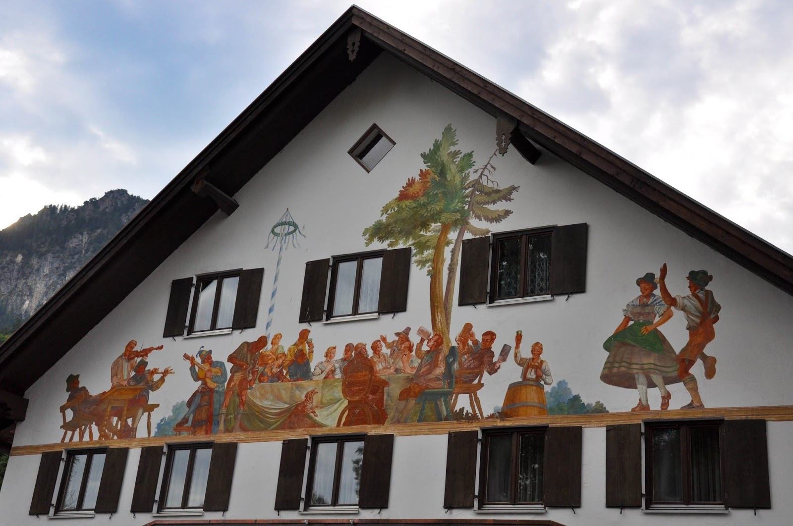 A painted house, Bavaria, Germany
