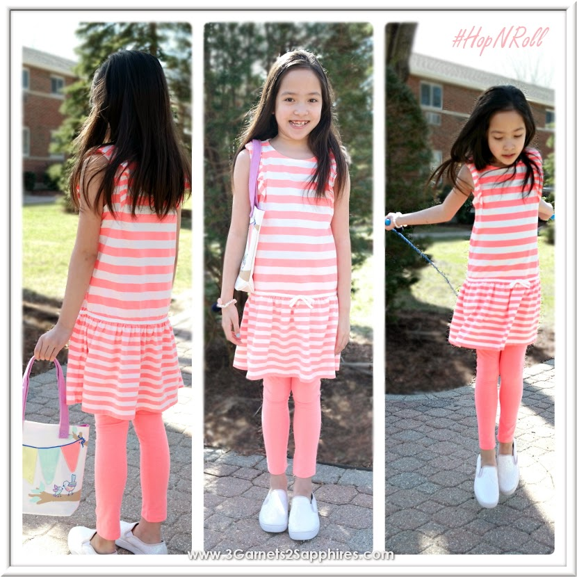 Gymboree's Hop 'N' Roll playground-friendly girls fashions | www.3Garnets2Sapphries.com