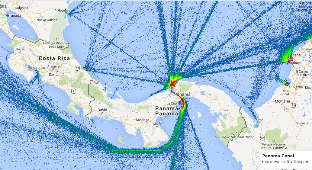 Panama Canal Location On World Map.Panama Canal Ship Traffic Ship Traffic