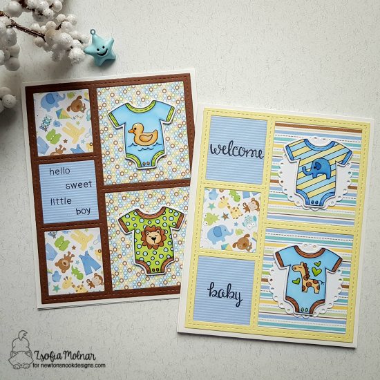 Welcome Baby by Zsofia features Loveable Laundry and Stitched Onesie by Newton's Nook Designs; #newtonsnook
