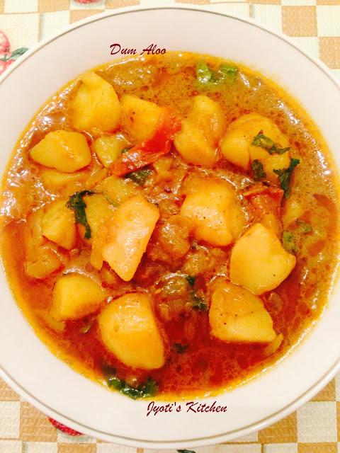 Aloo Dum  Recipe - common vegetable curry in India