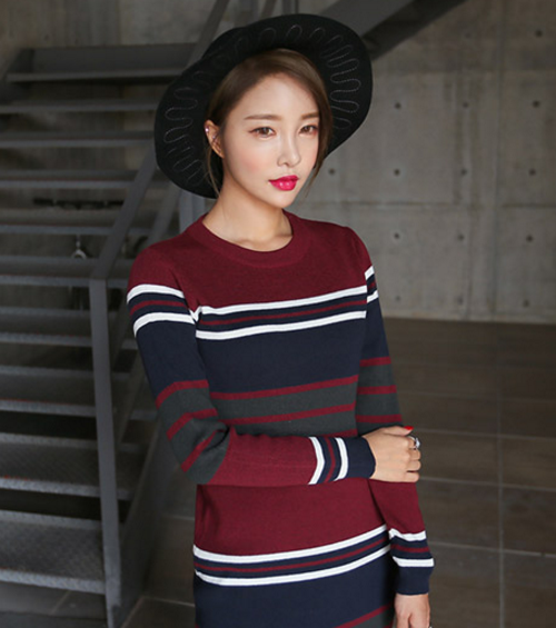 Slim Fit Stripe Dress