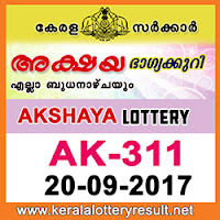 KERALA LOTTERY, kl result yesterday,lottery results, lotteries results, keralalotteries, kerala lottery, keralalotteryresult, kerala lottery result, kerala lottery result live, kerala lottery results, kerala lottery today, kerala lottery result today, kerala lottery results today, today kerala lottery result, kerala lottery result 20-9-2017, Akshaya lottery results, kerala lottery result today Akshaya, Akshaya lottery result, kerala lottery result Akshaya today, kerala lottery Akshaya today result, Akshaya kerala lottery result, AKSHAYA LOTTERY AK 311 RESULTS 20-9-2017, AKSHAYA LOTTERY AK 311, live AKSHAYA LOTTERY AK-311, Akshaya lottery, kerala lottery today result Akshaya, AKSHAYA LOTTERY AK-311, today Akshaya lottery result, Akshaya lottery today result, Akshaya lottery results today, today kerala lottery result Akshaya, kerala lottery results today Akshaya, Akshaya lottery today, today lottery result Akshaya, Akshaya lottery result today, kerala lottery result live, kerala lottery bumper result, kerala lottery result yesterday, kerala lottery result today, kerala online lottery results, kerala lottery draw, kerala lottery results, kerala state lottery today, kerala lottare, keralalotteries com kerala lottery result, lottery today, kerala lottery today draw result, kerala lottery online purchase, kerala lottery online buy, buy kerala lottery online