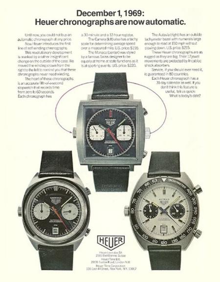 History of the TAG Heuer Monaco Heuer-Advertising-1969