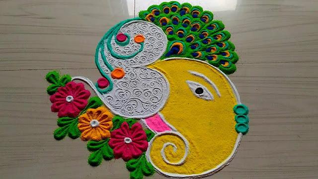 Diwali Rangoli Design Easy